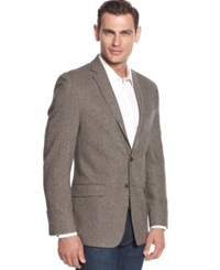 Calvin Klein Donegal Tweed Slim Fit Sport Coat Brown