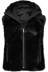 Fusalp Peggy Hooded Faux Fur Gilet Black