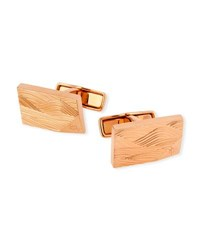 Dunhill Wave Embossed Pink Gold Plated Cuff Links