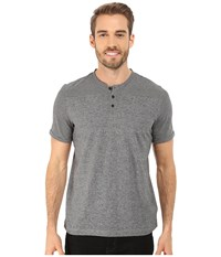 Kenneth Cole Sportswear Short Sleeve Stripe Henley Black Men's T Shirt