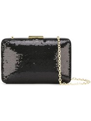 Love Moschino Sequined Clutch Black