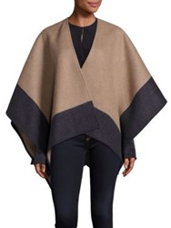 Rag And Bone Double Faced Merino Wool Wrap Camel