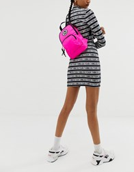 Hype One Shoulder Backpack In Pink Neon