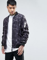 Cayler And Sons Bomber Jacket In Water Print Black
