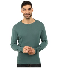 Agave Denim Long Sleeve Vee Baby Rib Jasper Men's Long Sleeve Pullover Brown