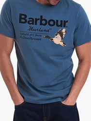 Barbour 'Moorland' Country T Shirt Dk Chambray