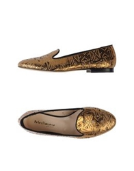 Peter Flowers Moccasins Gold
