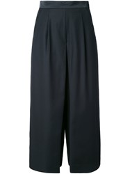 Guild Prime Cropped Pleated Palazzo Pants Black