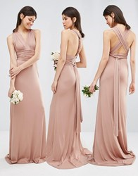 Tfnc Tall Wedding Multiway Fishtail Maxi Dress Brush Tan