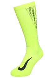 Nike Performance Elite Lightweight Sports Socks Volt Black Metallic Silver Neon Yellow