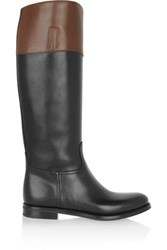 Church's Martina Two Tone Leather Riding Boots Black