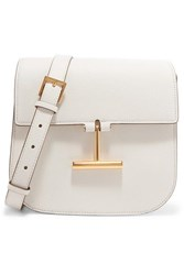Tom Ford Tara Mini Textured Leather Shoulder Bag White