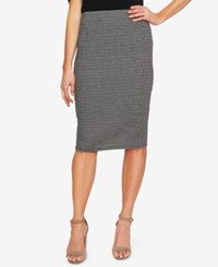 Cece Checked Pull On Pencil Skirt Rich Black
