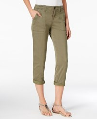 Calvin Klein Jeans Utility Cropped Pants Olive Tan