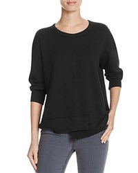 Wilt Shrunken Shifted Hem Sweatshirt Black