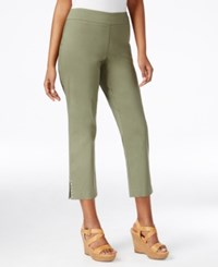 Jm Collection Pull On Cropped Pants Only At Macy's Olive Sprig
