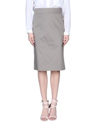 Blue Les Copains Skirts Knee Length Skirts Women Dove Grey