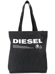 Diesel Denim Logo Tote Bag Black