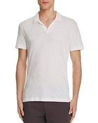 Theory Willem Nebulous Slim Fit Polo Shirt White