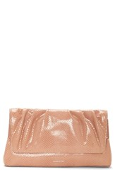 Louise Et Cie Aisa Leather Clutch Pink Foundation