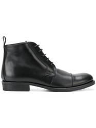 Ann Demeulemeester Blanche Lace Up Boots Leather Black