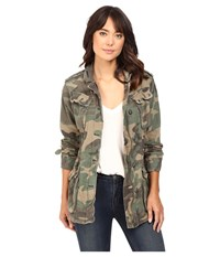 Free People Not Your Brother's Jacket Green Combo Women's Coat
