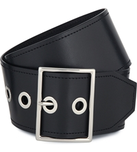 Sandro Alda Calfskin Leather Belt Black
