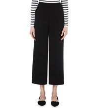 Whistles Fluid Cropped Trousers Black