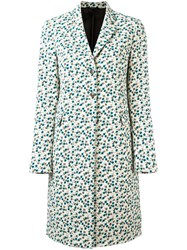 Paul Smith Floral Print Coat White