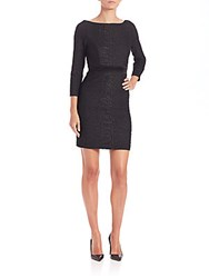 Abs By Allen Schwartz Long Sleeve Cutout Back Bodycon Dress Black