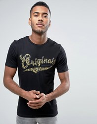 Jack And Jones Originals T Shirt With Graphic Print Black