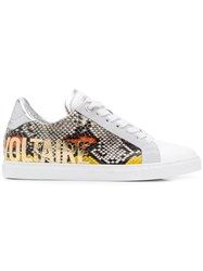 Zadig And Voltaire Wild Print Sneakers White