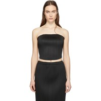 Issey Miyake Pleats Please Black Pleated Cropped Tube Top
