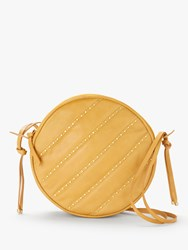 And Or Ella Circle Leather Cross Body Bag Yellow