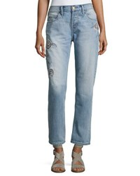 Current Elliott The Crossover Harrison Jeans W Embroidery Indigo