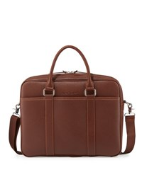 Robert Graham Pebbled Faux Leather Messenger Bag Cognac