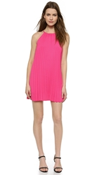 Line And Dot Pleated Mini Dress Hot Pink