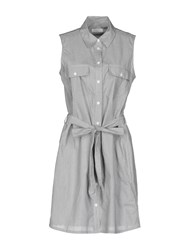 Equipment Femme Short Dresses Grey