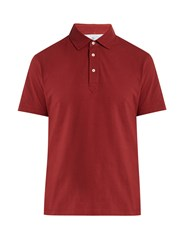 Brunello Cucinelli Regular Fit Cotton Polo Shirt Red