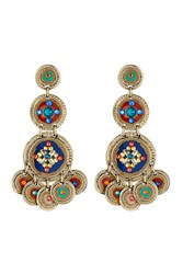 Gas Bijoux Bohemian Coin Chandelier Earrings Multicolor