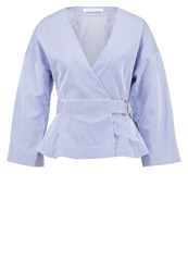 Ivy And Oak Blouse Navy Bright White Blue