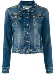 Twin Set Embellished Denim Jacket Blue