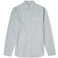 A Kind Of Guise Button Down Stripe Shirt Blue