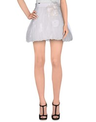 Elisabetta Franchi Gold Skirts Mini Skirts Women White