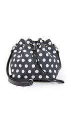Rochas Polka Dot Bucket Bag Black
