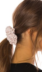 8 Other Reasons Pearl Scrunchie Set In Beige. Beige Pink And Grey