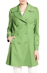 Trina Turk Women's Rosemarie Skirted Trench Coat Grass