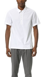 Shades Of Grey Zip Front Polo Shirt White