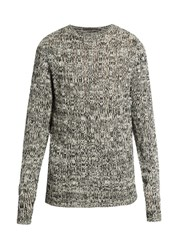 Denis Colomb Crew Neck Open Weave Sweater Black Multi