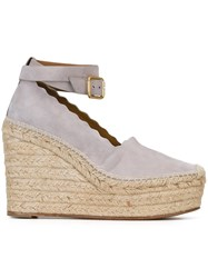 Chloe 'Lauren' Wedge Espadrilles Grey